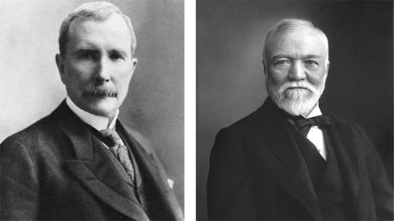 Sanatın yeni hamileri: John D. Rockefeller ve Andrew Carnegie