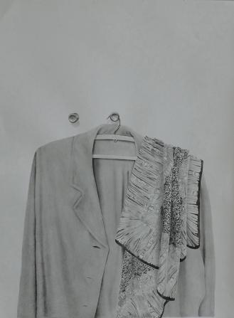 Askıda Palto, Kağıt üzerine suluboya / Watercolor on paper 71 x 46 cm, 2018